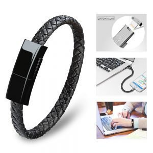 Premium Phone Charger Leather Bracelet